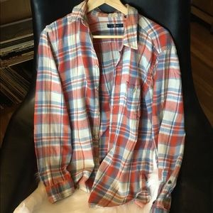 7 For All Mankind Men's M Flannel Shirt